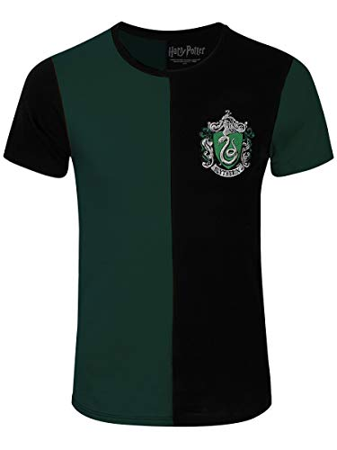 Harry Potter Herren T-Shirt Slytherin Tournament Baumwolle grün schwarz - S