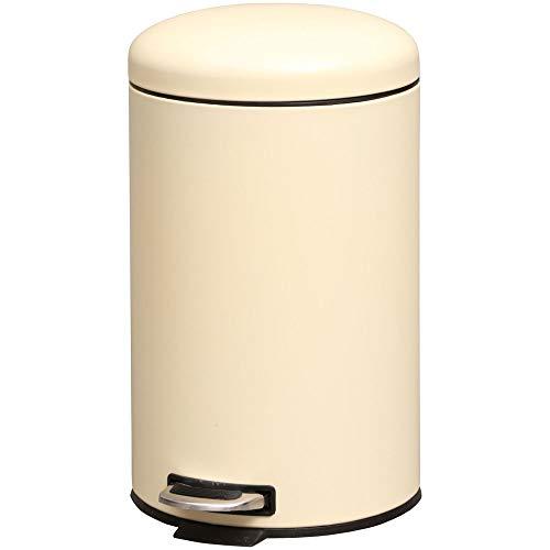 アイリスプラザ ペダル式ゴミ箱丸型 アイボリー 12L AFB-C12IV