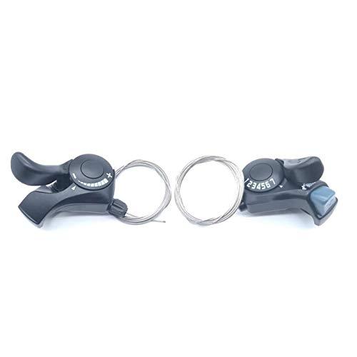NMSGS0 Proteja su Bicicleta Carretera 6 7s 18 21 Velocidad TX30 Cambieders Cable de Engranajes Interno Incluido para Shimano Tourney SL-TX30 Bicicleta Bicicleta Palanca (Color : 3S x 7S a Pair)