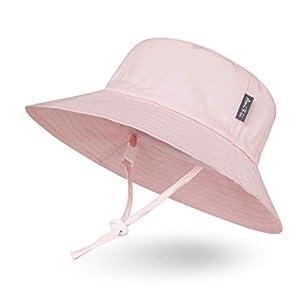 Ami&Li tots Unisex Child Adjustable Bucket Protection Hat for Baby Girl Boy Infant Kids Toddler UPF 50 - L: Pink