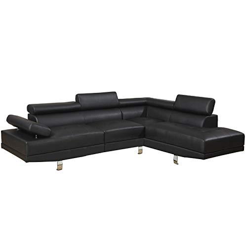 Casa Andrea Milano Modern 2-Piece Faux Leather Corner Sofa