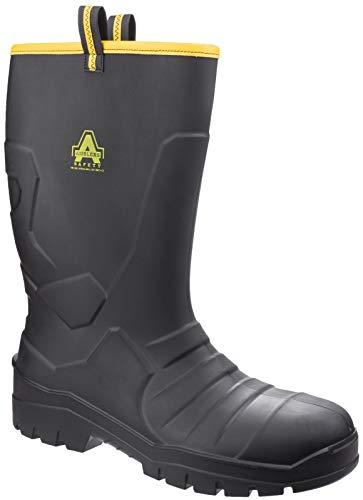 Amblers Safety - Stivali di Sicurezza AS1008 - Unisex Adulti (38 EU) (Nero)