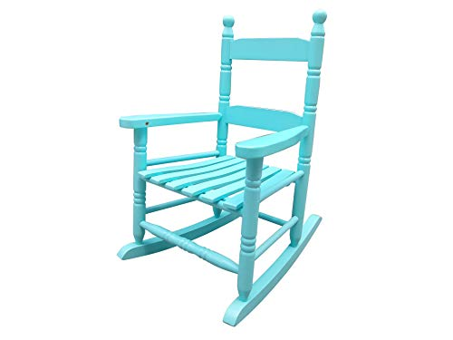 rockingrocker - K10BU Light Blue Child's Rocking Chair/Porch Rocker - Indoor or Outdoor - Suitable for 1 to 4 Years Old