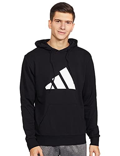 Adidas Men's Cotton M Fi 3B Hoodie Sweatshirt (Ha8545_Xl, Black, Xl)