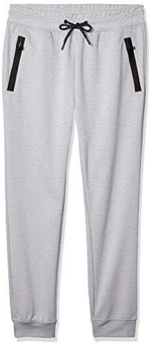 Southpole Men's Tech Fleece Basic Jogger Pants-Reg and Big & Tall Sizes, Heather Grey Plain, Large