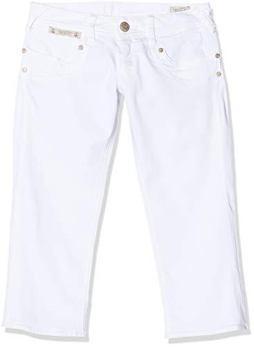 Herrlicher Damen Piper Shorts, Weiß (White 10), W29 (Herstellergröße: 29)