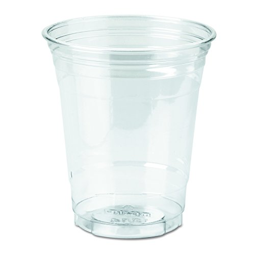 Dixie 12 oz. PETE Plastic Cup by GP PRO (Georgia-Pacific), Clear, CP12DX, 500 Count (25 Cups Per Sleeve, 20 Sleeves Per Case)