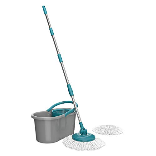 Flash Limp, Mop Giratório Fit, com 2 refis, Cinza