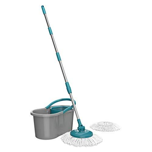 Flash Limp, Mop Giratório Fit, com 2 refis, 8 litros, Cinza