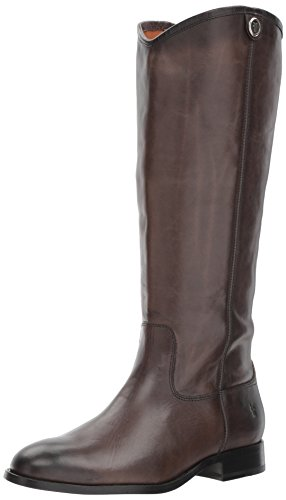 Frye Women's Melissa Button 2 Riding Boot, Smoke Extended Calf, 9.5 Medium US