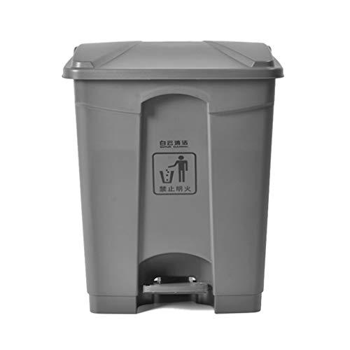 LJ-KK SZQ Il Pattino di Tipo del Pedale di capacità Elevata, all aperto ispira la pattumiera di plastica di Protezione Ambientale del supermercato Canestro del Deodorante Solido (Dimensioni : 45L)