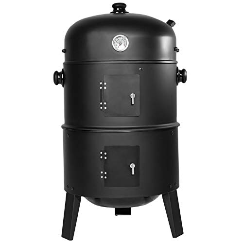 TecTake BBQ Charcoal barbecue smoker with heat indicator – different models – (3in1 Smoker (ton 400820))