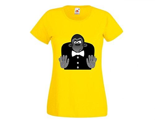 Camiseta de Gorilla, Animales, Cara, Mono, Caballo, Mujer, niños, 104 – 5 XL