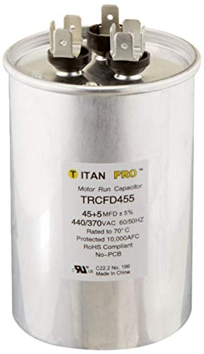 Packard TRCFD455 45+5MFD 440/370V Round Run Capacitor Replaces PRCFD455 (2 Pack)