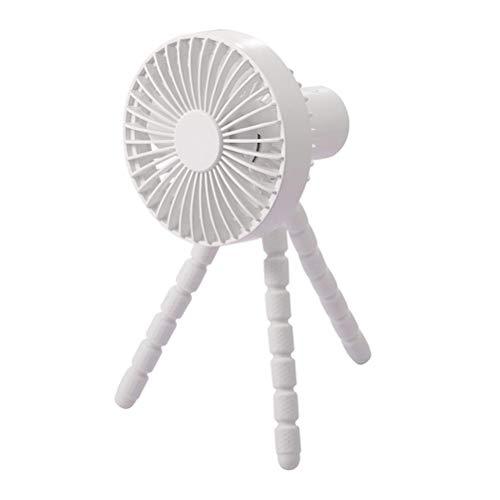 Soporte de ventilador, Portátil USB Ventilador de Mano con Trípode Flexible de 3 Velocidades Clip Ventilador para Cochecito de Asiento de Coche Tienda