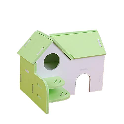 xihan123 Algodon Hamster Tolerante Al Olor Cobayas Accesorios Madera Camas De Cobayas para Proporciona Un Nido Fresco De Animales Pequeños para Jugar Y Descansar Green