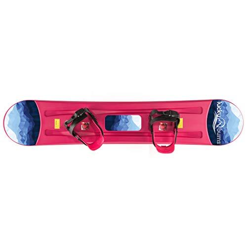 Lucky Bums Kids Beginner Plastic Snowboard, 95cm, Pink