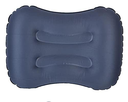 Almohada de camping ultraligera, almohada inflable de viaje al aire libre de TPU para dormir portátil suave almohada de aire ergonómica