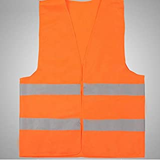 Rag & Sak® Safety Vest with Reflective Strips High Visibility Work, Running, Walking, Jogging, Cycling, Construction