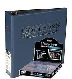 Ultra Pro 3-Ring Collectors Album Blue + 100 9-Pocket Platinum Pages - Magic: The Gathering - Yu-Gi-Oh!