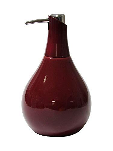 SANWOOD Seifenspender Coppalino Farbe: Weinrot/Chrom Spender Flüssigseife Lotionspender Seife Seifen Spender Seifendosierer