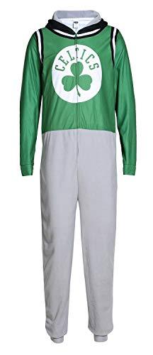Concept Sports Boston Celtics NBA Warm Up Unisex Micro Fleece Union Suit