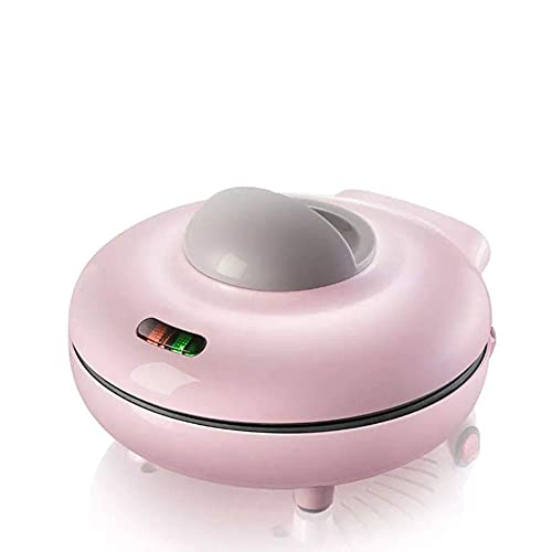 JJINPIXIU Máquina automática de gofres eléctrica Antiadherente de Dibujos Animados, máquina de panqueques para Muffins, Mini Cocina para Crepes, multifunción, Desayuno para niños