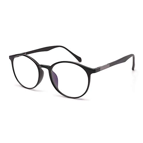 VECIEN Blaulichtfilter Brillen, Computerbrille Gläser Schutzbrille TR90 Unisex für PC Tablette Handy TV - Anti-Müdigkeit/Anti-Blaulicht/UV-Schutz (Black)