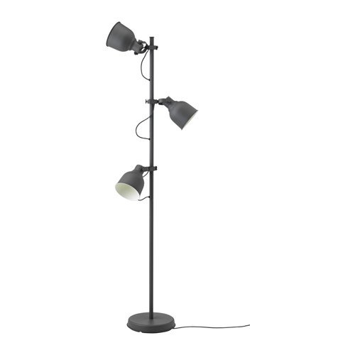 Ikea Floor Lamp With 3 Spotlights Dark Gray 2028 81114 3810