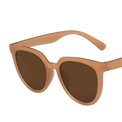 SSN Gafas De Sol para Hombres Gafas Tendencia Moda Guapas De Sol Gafas De Sol Netas Rojo Calle Shooting Gm Retro Estilo (Color : E)