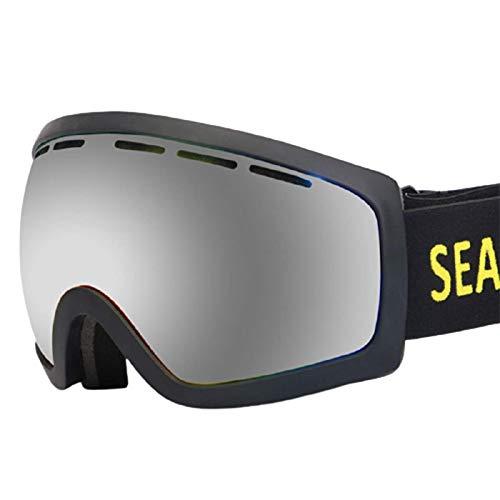 Gafas De Esquí Marco Resistente A Impactos Anti-UV ProteccióN Y Antideslumbrante Marco Grande HD Esquí De MontañA Al Aire Libre Disponible Unisexo,B