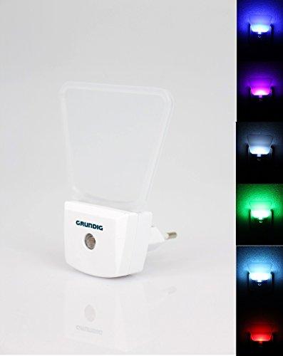 GRUNDIG nachtlampje Veilleuse met kleurverandering, elegant modern design met lichtsensor