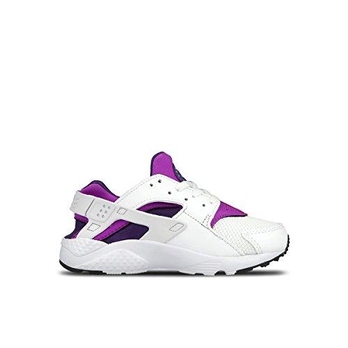 Nike Huarache Run (PS), Scarpe da Ginnastica Bambina, Bianco, Viola (White White Hypr VLT CRT Prpl), 35 EU