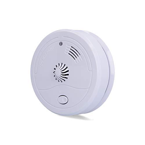UNITEC Hitzemelder | löst Alarm bei 50 - 68 °C | 9V Block Batterie | Selbsttestfunktion