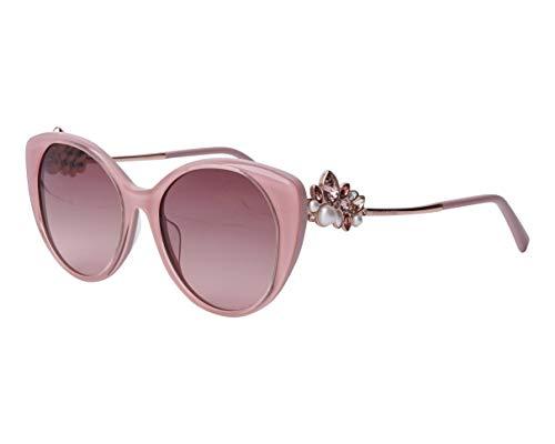 Swarovski SK-0279-S 72F - Gafas de sol (cristales rosas), color gris y marrón
