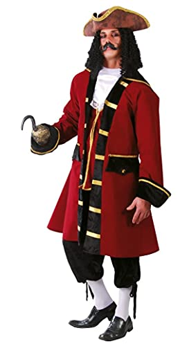 Fiestas Guirca Déguisement de Capitaine de Luxe de Pirate Complet