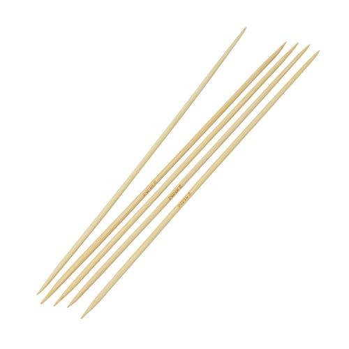 BIG-SAM 5 Sockenstricknadeln, Nadelspiel aus Bambus in folgenden Größen zur Auswahl: 2,5/3,0/3,5 oder 4,0, oder als Set mit Allen Größen (2,5)