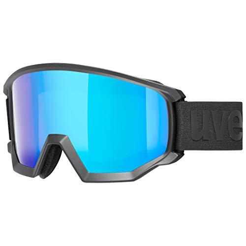Uvex Athletic CV Skibril voor volwassenen, uniseks, zwart, één maat
