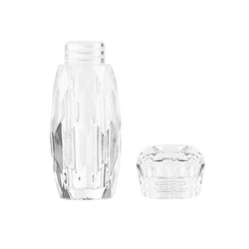 Uonlytech Lose Perlenbehälter Nagel Aufbewahrungsbox Kratzfeste transparente Nageldiamant Leere runde Aufbewahrungsflasche Nagelausrüstung Zugangsanzeigewerkzeug (flache Kappe ovale Flasche)