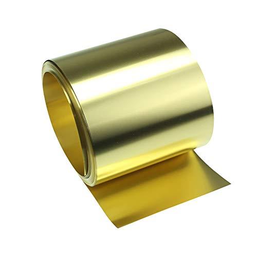 GOONSDS H62 Latón De Metal Delgada Lámina Metálica Placa Roll Materials Trabajo del Metal 300 Mm / 11.8Inchx1000mm / 39.9Inch,Thickness:0.1mm