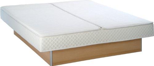 Wasserbetten 1A Dual Softside Wasserbett Komplett - inkl. Podest, Touch Heizungen und weiterem Zubehör