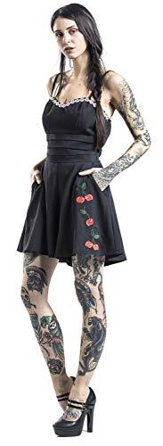 Voodoo Vixen Damen Playsuit Ariel Cherry (Schwarz, L)