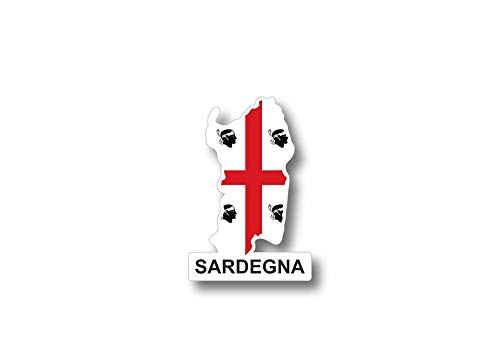 Akachafactory sticker vlag vlag Italië Italia kaart sardinië Sardegna