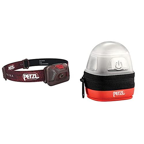 PETZL Tikkina Linterna Frontal, Unisex Adulto, Rojo, Talla Única + -Noctilight, Negro/Naranja