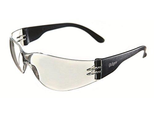 Dräger Schutzbrille X-pect 8310 Scheibe aus PC UV-Schutz: 99,9% Bügelbrille CE-zertifiziert incl. Antikratz+Antibeschlag