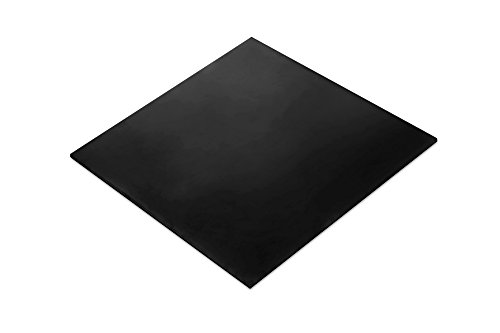 MATNIKS Nitrile Rubber Sheet (NBR) Heavy Duty, Oil Resistant, Hardness Shore A60 Black Smooth, 12x12-Inch 1/8
