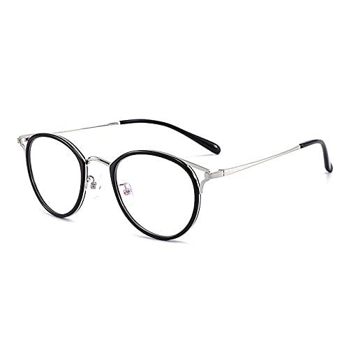 EYEphd 2021 Damas Gafas de Lectura fotocromáticas de Ojo de Gato, Gafas de Sol de Marco de Resina de Resina asférica HD /UV400 Ampliación +1.0 a +3.0,Plata,+2.0