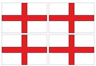 4 Piezas de Cruz de San Jorge Inglaterra Inglés Bandera Impreso Vinilo Bicicleta Coche Pegatinas Each 90x60mm Apróx