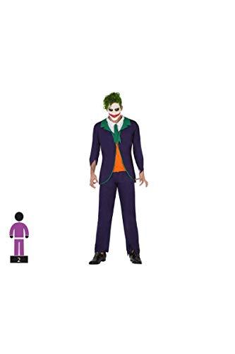 Atosa-57679 Disfraz Payaso para Hombre Adulto, Color Verde, XL (57679
