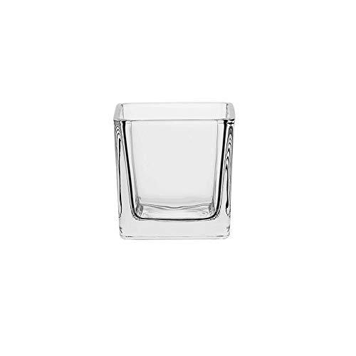 AmazonCommercial Hospitality Glass Candle Holder, 3.7 oz., Set of 6